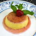 Spanish Flan with Strawberry Anise Caramel | myhumblekitchen.com