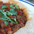 Lenteja Chorizo Pizza | myhumblekitchen.com
