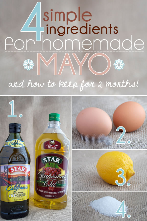 How to Make Homemade Mayonnaise With 4 Simple Ingredients