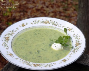 Cauliflower, Pea Shoot and Sorrel Soup