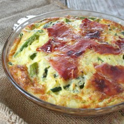 Spring Quiche Recipes: A Spinach and Asparagus Self Crusting Quiche