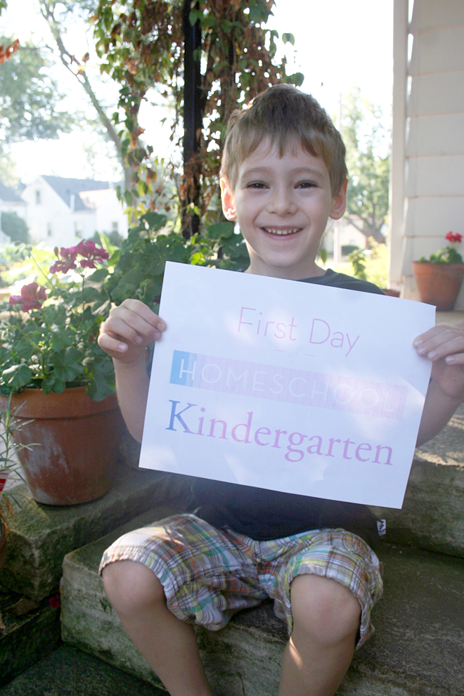 First Day of School and In Being a Stay at Home Mom   myhumblekitchen.com