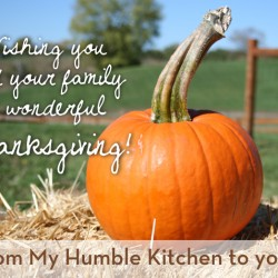 This Thanksgiving, I'm Thankful for You! | myhumblekitchen.com