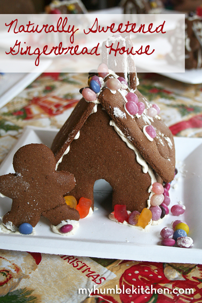 Naturally Sweetened Gingerbread House | myhumblekitchen.com
