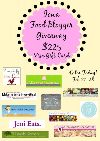 Iowa Food Bloggers Giveaway | myhumblekitchen.com