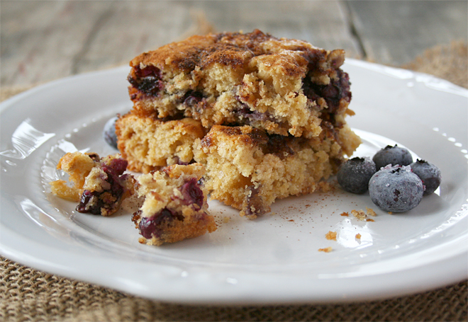 Oatmeal and Blueberry Breakfast Cake – Naturally Sweetened, Einkorn Flour