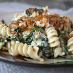 Einkorn Pasta, Spinach Mac and Cheese with Toasted Einkorn Wheat Berries | myhumblekitchen.com
