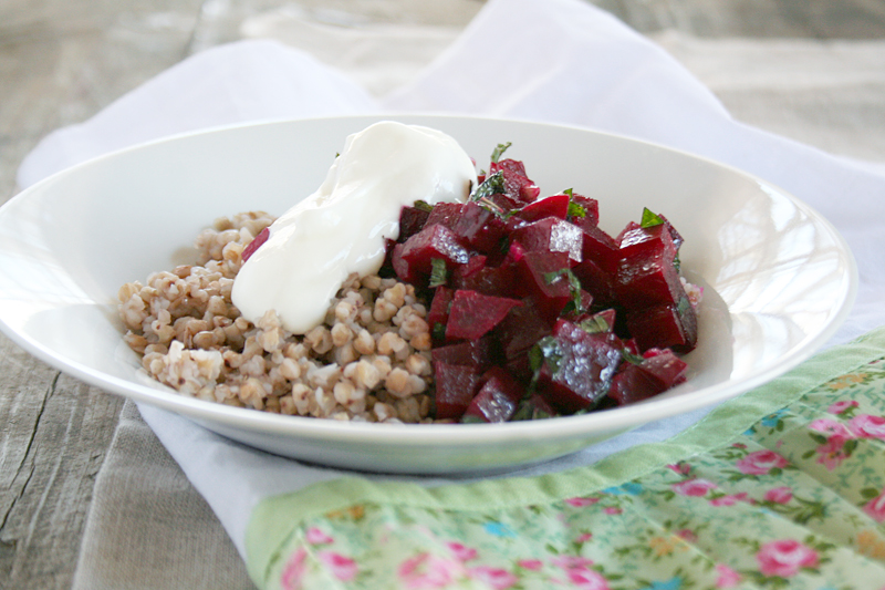 All About Buckwheat and a Roasted Buckwheat Salad with Dark Leafy Greens and Cranberries | myhumblekitchen.com