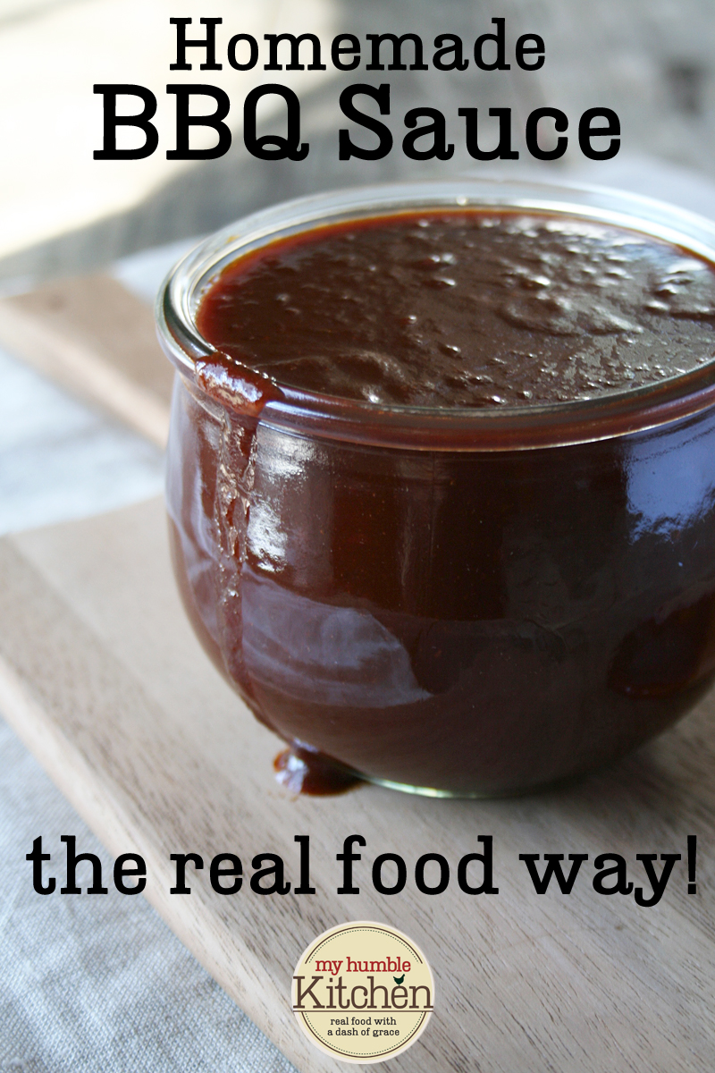 Easy, Homemade BBQ Sauce - The Real Food Way | myhumblekitchen.com