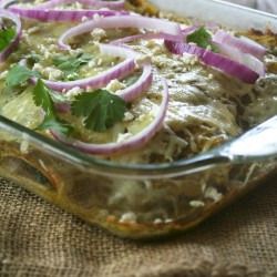 A Simple, Chicken and Spinach, Green Enchilada Casserole | myhumblekitchen.com