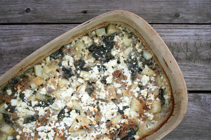 Creamed Spinach, Sausage, and Potato Casserole - A Simple Mid-Week ...