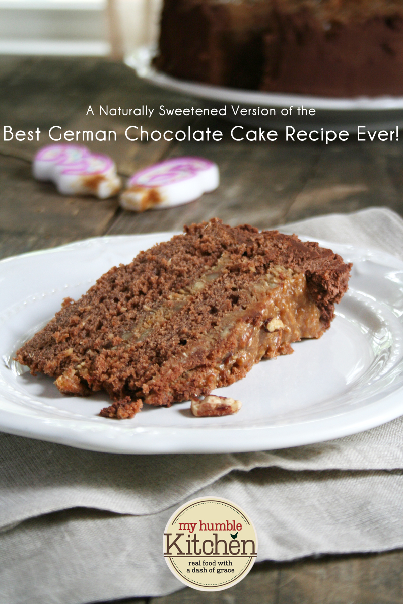 A Naturally Sweetened Version of the Best German Chocolate Cake Recipe Ever! | myhumblekitchen.com