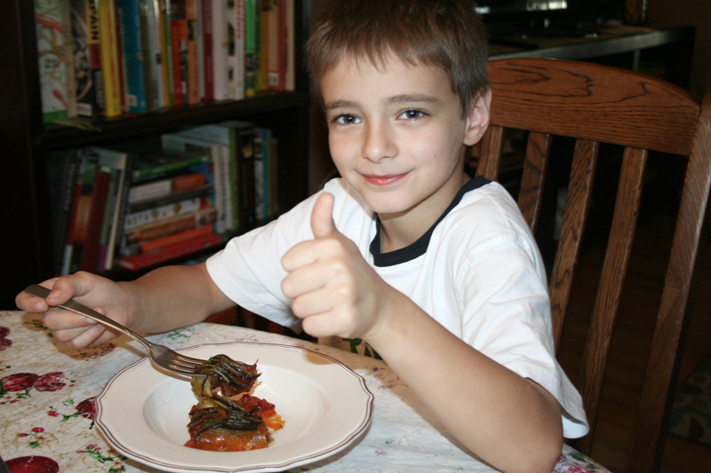 Remy's Ratatouille. A healthy meal made by kids because yes, anyone can cook! | myhumblekitchen.com