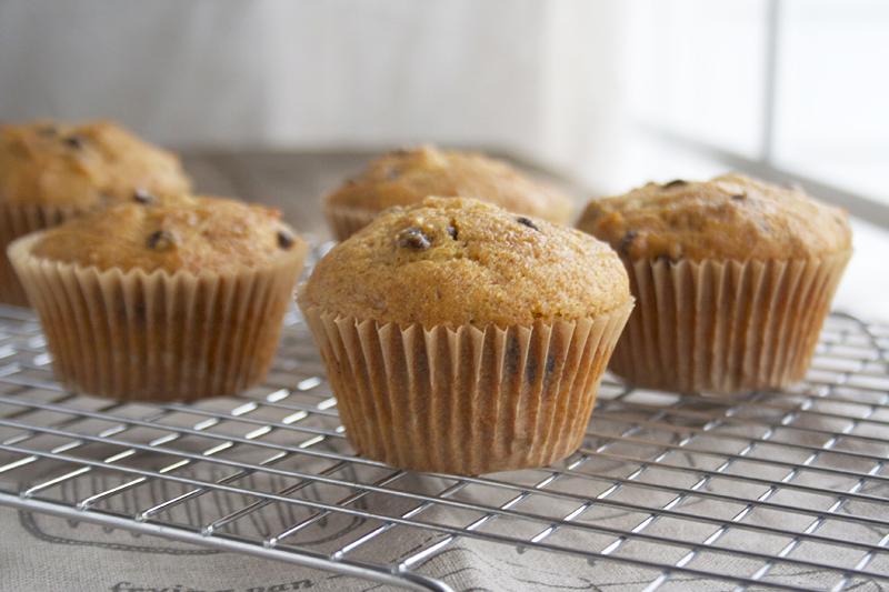 Honey Sweetened, Butternut Squash Chocolate Chip Muffins. The perfect after Thanksgiving treat! | myhumblekitchen.com