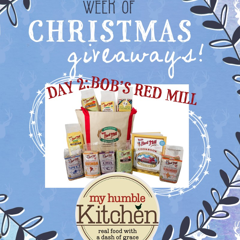 My Humble Kitchen's Week of Christmas Giveaways: Day 2 - Bob's Red Mill | myhumblekitchen.com