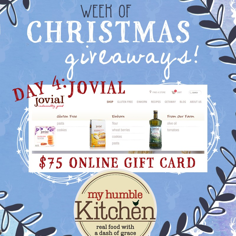 My Humble Kitchen's Week of Christmas Giveaways: Day 4 - Jovial Foods | myhumblekitchen.com