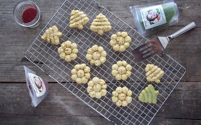 Honey Sweetened, Einkorn Spritz Cookies | myhumblekitchen.com
