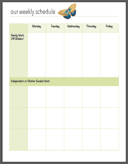 A FREE Charlotte Mason Homeschool Planner - My Humble Kitchen
