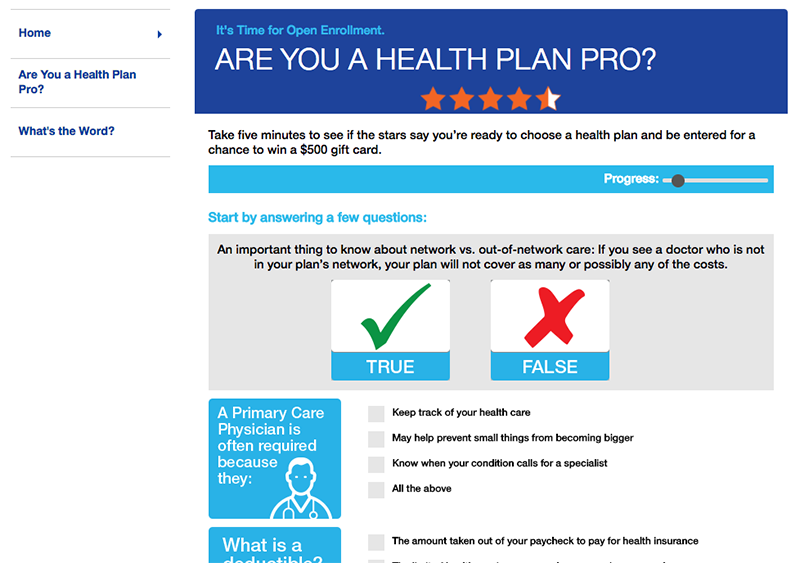 Are You a Health Plan Pro? Find out and Win up to $500!