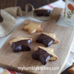 Honey Sweetened, Chai Spiced Shortbread Cookies