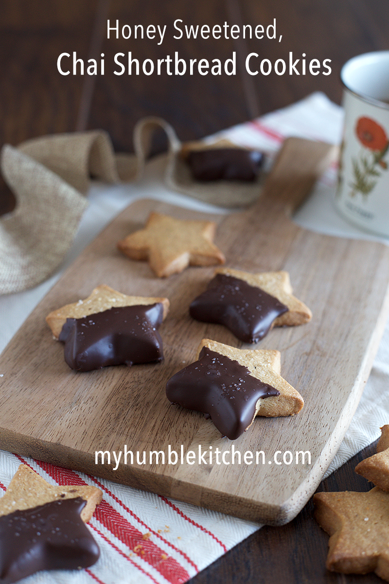 Honey Sweetened, Chai Spiced Shortbread Cookies - My Humble Kitchen