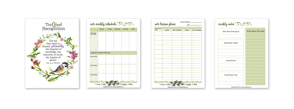 A Charlotte Mason Homeschool Planner PLUS Free Version!