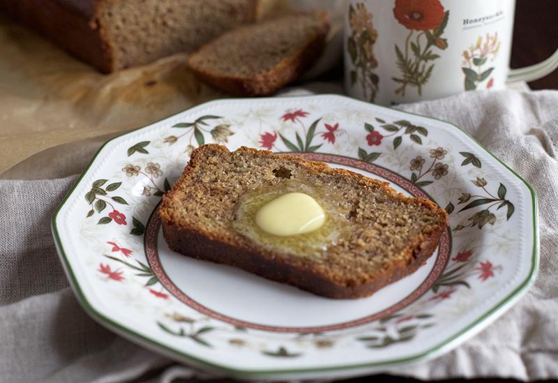Naturally Sweetened, Whole Wheat Einkorn Banana Bread   myhumblekitchen.com